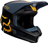 2019 Fox V1 MATA Motocross Helmet NAVY YELLOW